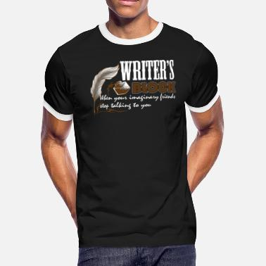 Writer's Block WRITER'S BLOCK TEE SHIRT - Men's Ringer T-Shirt