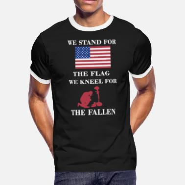 I Stand For We stand for the flag - Men's Ringer T-Shirt