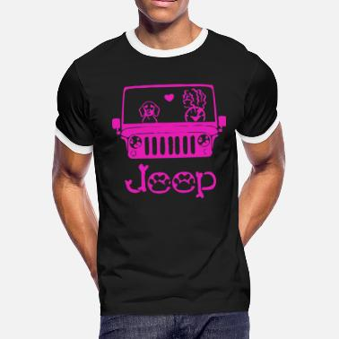 Jeep And Dog JEEP DOG t-shirts - Men's Ringer T-Shirt