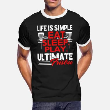Ultimate Frisbee Tee Shirt - Men's Ringer T-Shirt