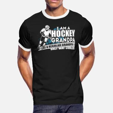 Hockey Player T Shirt, Hockey Grandpa T Shirt - Men's Ringer T-Shirt