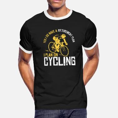 Retirement Cycling - Retired Bike Bicycle Gift - Men's Ringer T-Shirt