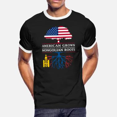 Mongolia American Grown with Mongolian Roots Mongolia Design - Men's Ringer T-Shirt
