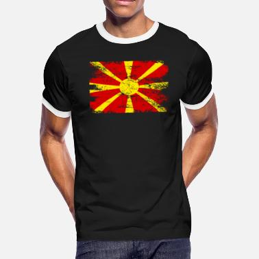 Macedonia Macedonia Gift Country Flag Patriotic Travel Shirt Europe Light - Men's Ringer T-Shirt