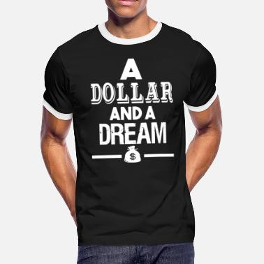 Bill Compton DOLLAR AND A DREAM THE GAME DR DRE COMPTON - Men's Ringer T-Shirt