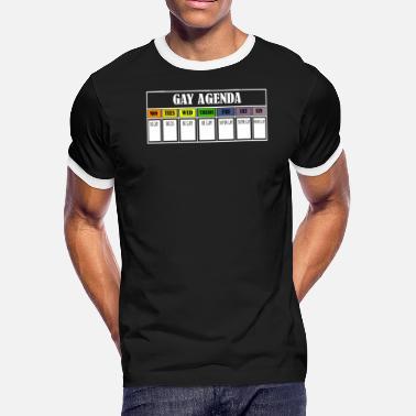 cd8420f6ef5d Gay As Fuck Gay agenda lgbt shirt - Men's Ringer T-