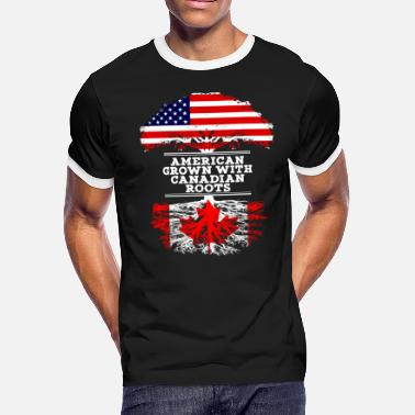 Canadian Grown American Roots American Grown With Canadian Roots - Men's Ringer T-Shirt