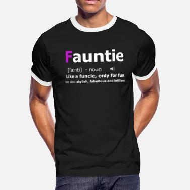 aef8f8b877 Aunt Definition Fauntie Aunt Definition Funny Aunt TShirt - Men's  Ringer T