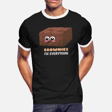 24c7781ab Cute Brownies Brownies Fix Everything Funny Brownie Pun - Men's Ringer T