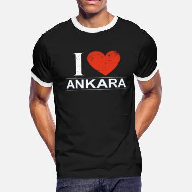 Ankara I Love Ankara - Men's Ringer T-Shirt