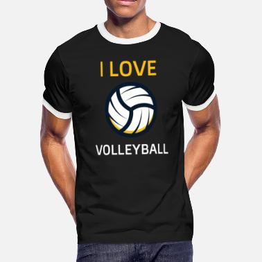Beach Sports Volleyball sport summer beach beach volleyball - Men's Ringer T-Shirt