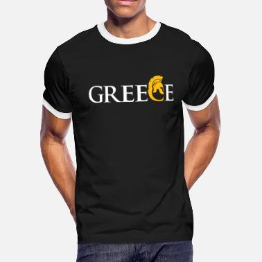 Greece Greece gift outline flag flag map - Men's Ringer T-Shirt