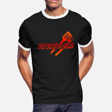 Grilled Meat Grilling Grill Meat - Men's Ringer T-Shirt