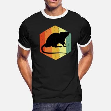 Rodent Distressed Rodent Gnagare Hexagon - Men's Ringer T-Shirt