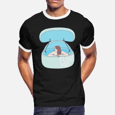 Float Tank Float Pod - Water Tank - Sensory Deprivation - Men's Ringer T-Shirt