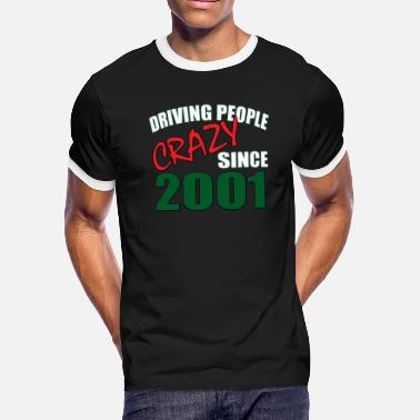 17th Birthday Gift Born In 2001, Funny 17th Birthday Gift - Men's Ringer T-Shirt