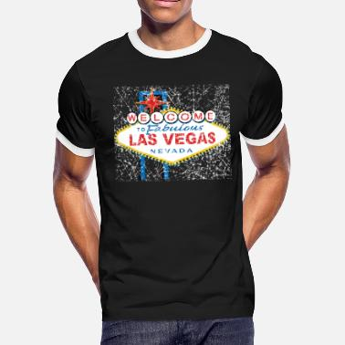 Welcome To Las Vegas Welcome to Fabulous Las V - Men's Ringer T-Shirt