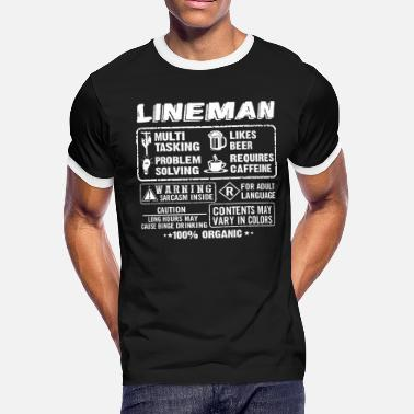 Telephone Pole Lineman - Lineman - lineman T shirt - Men's Ringer T-Shirt
