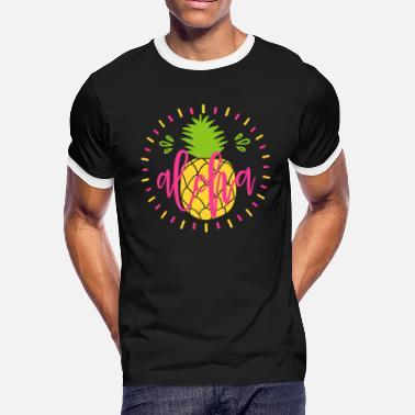 138f3140 Hawaiian With Funny Sayings Aloha Pineapple Beach - Men's Ringer T-.  Men's Ringer T-Shirt