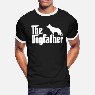The Dogfather German Shepherd The Dogfather German - Men's Ringer T-Shirt