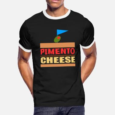 Cheese Addict Funny Cheese TShirt for people who are addicted - Men's Ringer T-Shirt