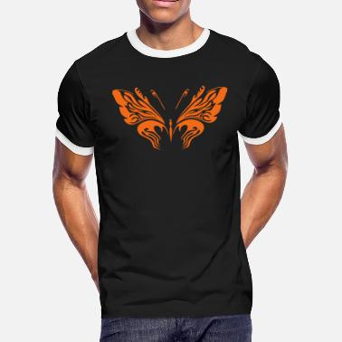 Flutter Butterfly - 001 - Men's Ringer T-Shirt