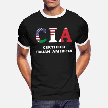 a9c0060d Italy USA Heritage- CIA Certified Italian American - Men's Ringer T