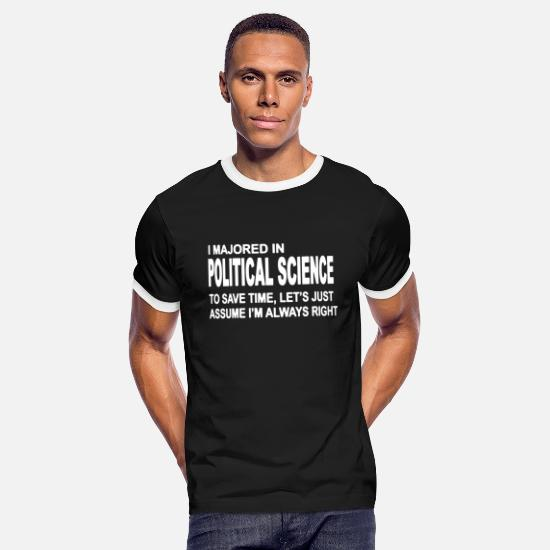 Political T-Shirts - Political Science Major T Shirt - Men's Ringer T-Shirt black/white