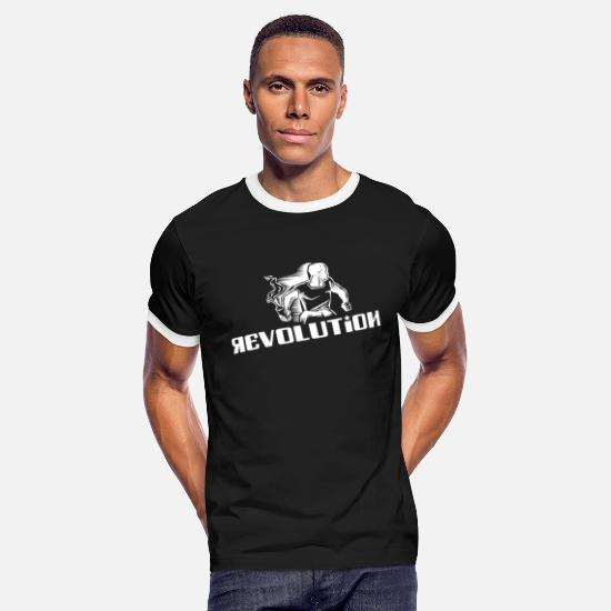 Rebellion T-Shirts - Revolution - Rebel - Demonstration - Riot - Men's Ringer T-Shirt black/white