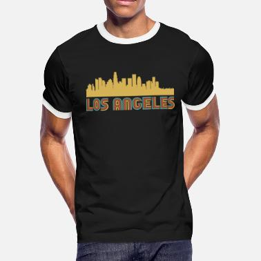Los Angeles California Vintage Style Los Angeles California Skyline - Men's Ringer T-Shirt