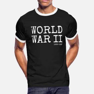 Veteran World War 2 World War II 1939-1945 (White) - Men's Ringer T-Shirt