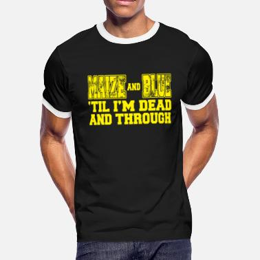 Maize Maize and Blue - Men's Ringer T-Shirt
