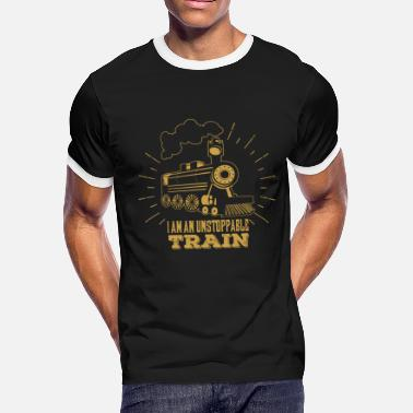 Train Driver Steam Locomotive Railroad Train Gift - Men's Ringer T-Shirt
