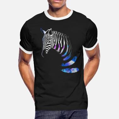 Zebra Black Zebra on black - Men's Ringer T-Shirt