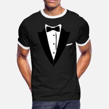 c50c0500d Custom Tuxedo Hilarious Tuxedo Shirt - Men's Ringer T-Shirt