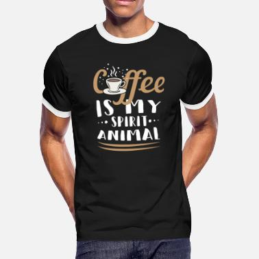 Late Risers Coffee early riser late riser caffeine cup - Men's Ringer T-Shirt