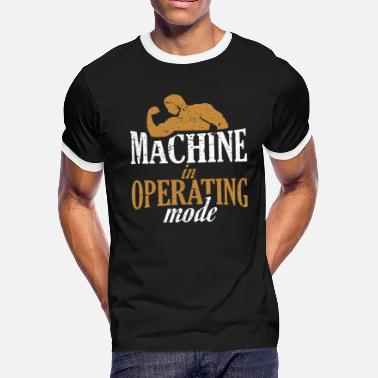 Testosterone Machine in operating mode - Fitness Gym Design - Men's Ringer T-Shirt