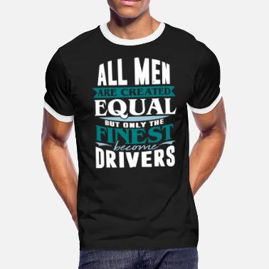 Road Transport driver taxi car road transport - Men's Ringer T-Shirt
