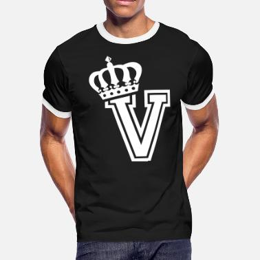 Alphabet First Name Name: Letter V Character V Case V Alphabetical V - Men's Ringer T-Shirt