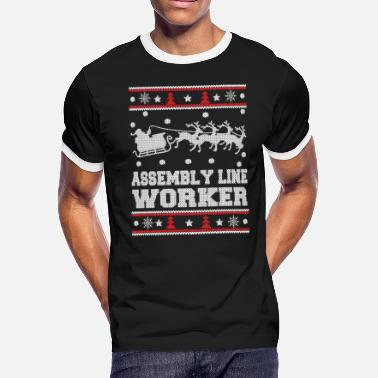 Assembly Assembly line worker - Christmas worker sweater - Men's Ringer T-Shirt
