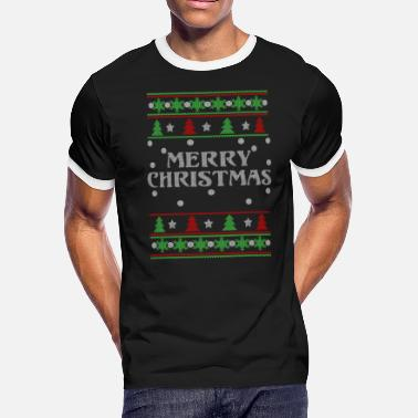 Orgasm Xxx Merry christmas - Ugly Christmas Sweater - Men's Ringer T-Shirt