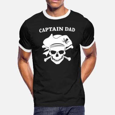 Pirate Radio Pirate - Captain Dad Pirate Funny Gift Dad - Men's Ringer T-Shirt