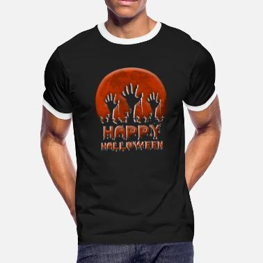 Scary Horror Cute Funny Spooky Happy Halloween - Men's Ringer T-Shirt