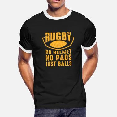 Slogan Funny Rugby Player Sport Coach Game Team Fan Gift - Men's Ringer T-Shirt