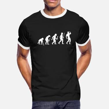 Slut Bodybuilding Bodybuilding - Bodybuilding Pose Evolution - Men's Ringer T-Shirt
