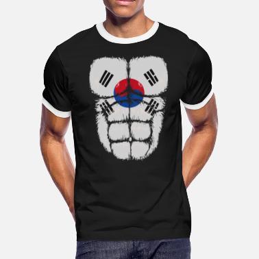 536667c07 South Korea flag hulk muscles - Men's Ringer T-Shirt