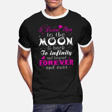 Love Moon Love Love you to the moon - Men's Ringer T-Shirt