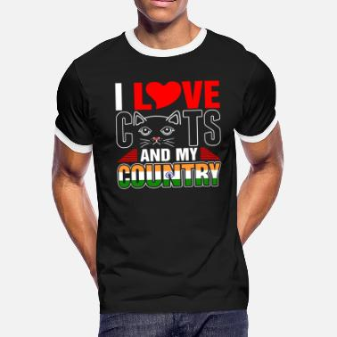 I Love India I Love Cats And My India Country - Men's Ringer T-Shirt
