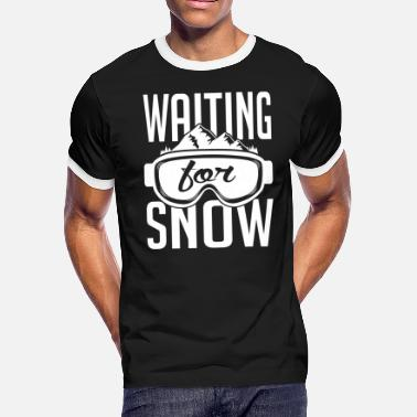 Snow Skiing - Skiing: Waiting for snow - Men's Ringer T-Shirt