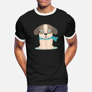 Head Scarf dog with scarf - Men's Ringer T-Shirt